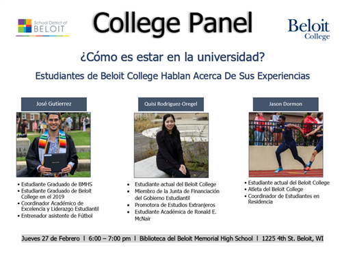 College Panel Flyer