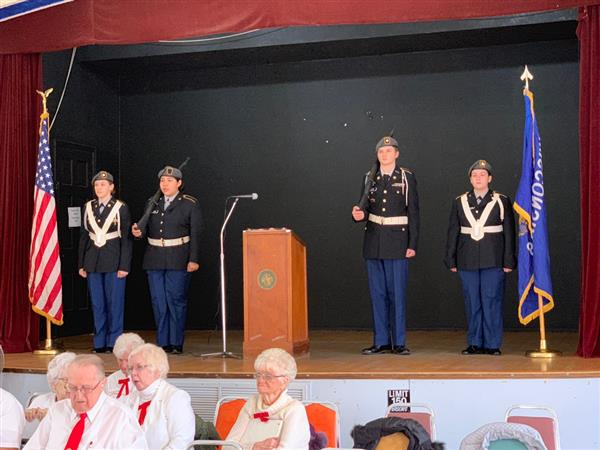 BMHS JROTC members participate in Veterans Day Event