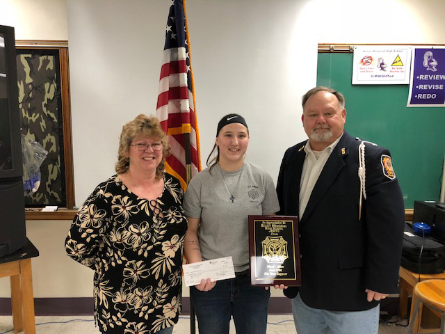 VFW Supports BMHS JROTC