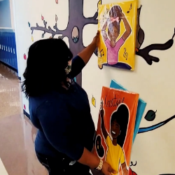 Spectrum News 1: New Artwork Depicts Representation at Merrill Elementary School