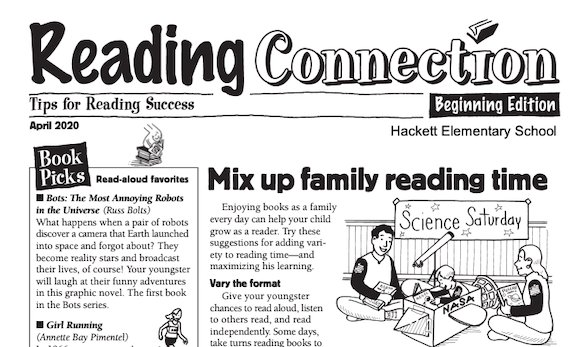 Hackett Elementary Reading Connection April Newsletter