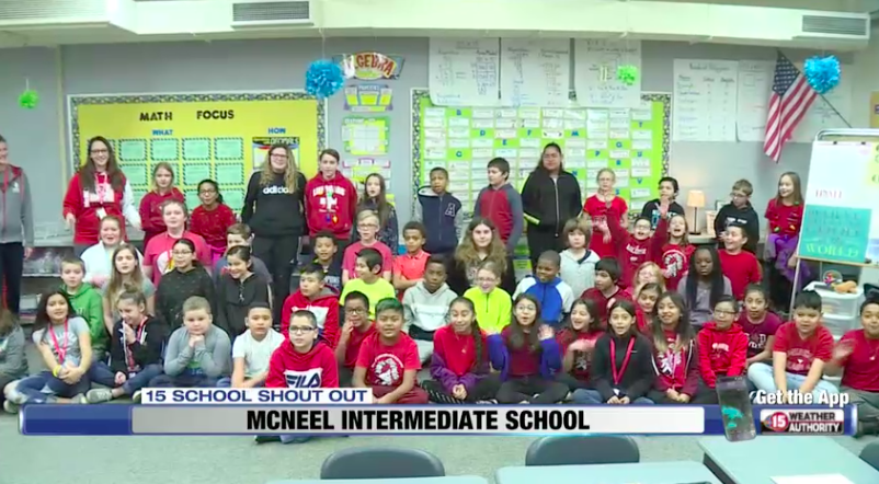 Smiles, cheers and an awesome good morning! Here's to our McNeel Intermediate School 5th graders and their shout-out on NBC15 Madison #BeloitProud