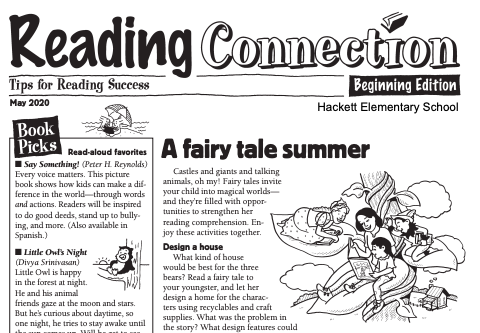 Hackett Elementary Reading Connection May Newsletter