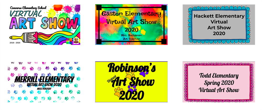 Elementary School's  Virtual Art Shows